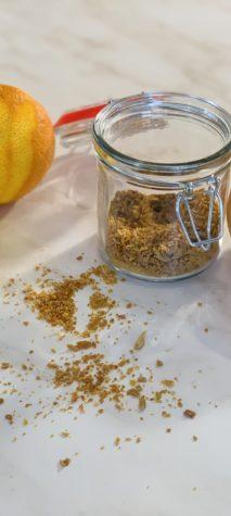 poudre de zestes d'agrumes séchés