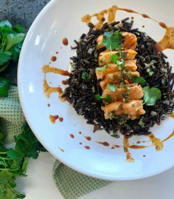 riz saumon