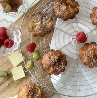 muffins rhubarbe